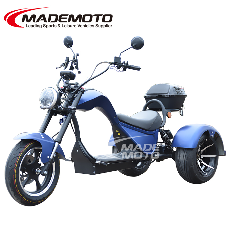 NEW Electric three wheel chopper 3000W shaft drive Cobra 3 wheel Citycoco Electric Scooter