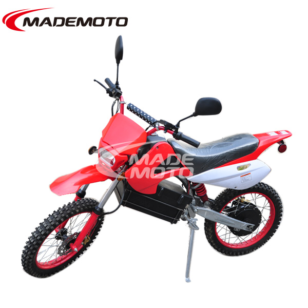 60v/1200w brushless cheap adult electric dirt bike with shaft drive