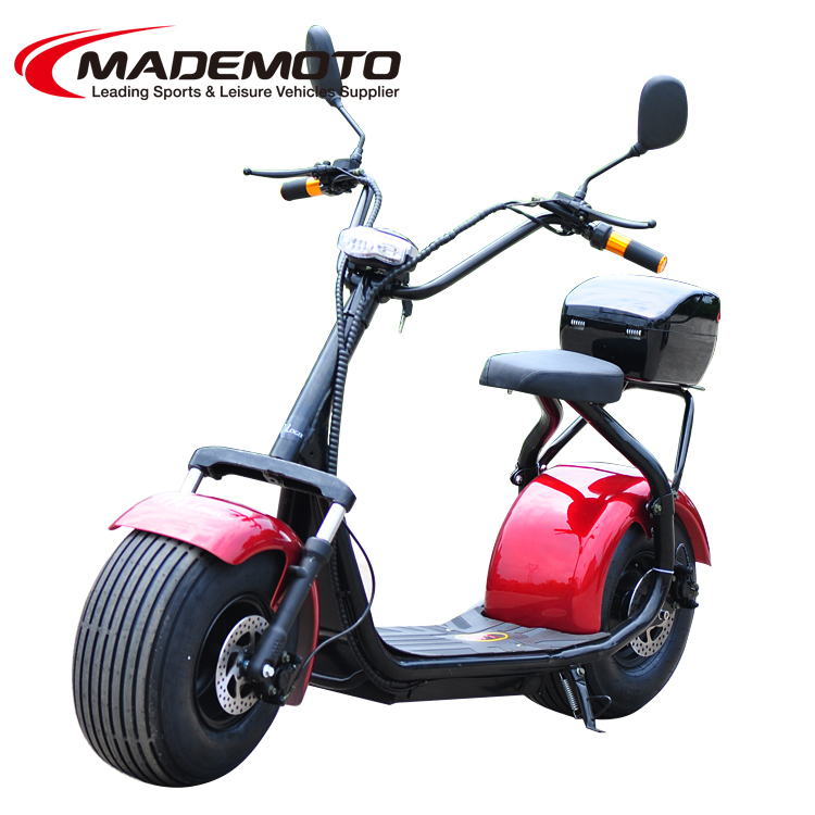 2016 popular 1500W 60V 12A lithium battery fat tire citycoco electric scooter