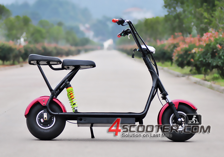 New Mini Citycoco With front and Double Rear suspension 500W 800W Junior Citycoco